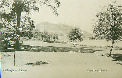 Vintage Postcard.'palaces In The Mist'.early Unusual View Of Buckingham Palace.