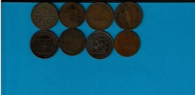 Canada Tokens Lot 8 Different Montreal Speed The Plough Upper Canada Brock Etc