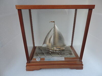 Finest  Sterling Silver 985 Yacht Sailboat Ship By Takehiko Winner Trophy Cup