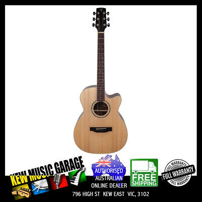Timberidge 1 Series Spruce Solid Top Acoust-Elec Small Body C/Away Guitar Gloss
