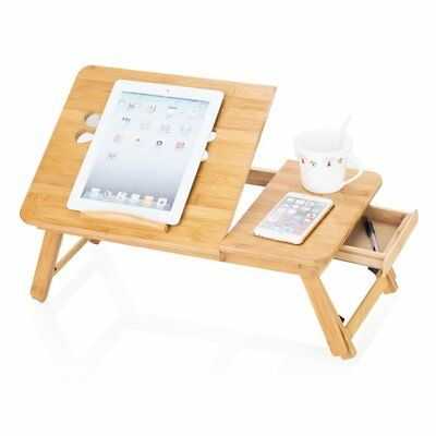 Bamboo Portable Folding Legs Laptop Notebook Table Bed Tray PC Desk Stand