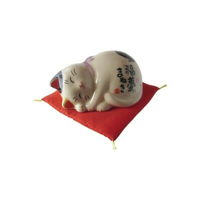 Chat Japonais 80mm doux rêve Maneki Neko bobtail porcelaine Made in Japan 40596
