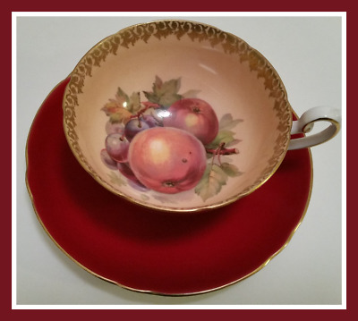 Shelly Fruit Cup and Saucer