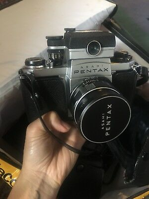 60s Pentax Camera And Old Camera Supplies. Deceased Estate.