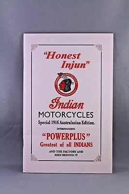 INDIAN MOTORCYCLE POWERPLUS AUSTRALIAN 1916 LIMITED EDITION BOOK No. 397 / 600