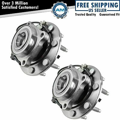 Front Wheel Hub & Bearing Pair Set for Chevy GMC Truck 8 Lug 4X4 4WD w/ ABS