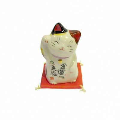 Chat Japonais 80mm Fortune Maneki Neko bobtail porcelaine Made in Japan 40599