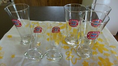 Beer Glasses Melbourne Bitter 285ml x 6 Collectable Glasses NEVER USED
