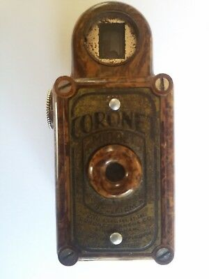Coronet Midget Camera 16mm Chestnut brown  Vintage 1930s   #SundayMarket
