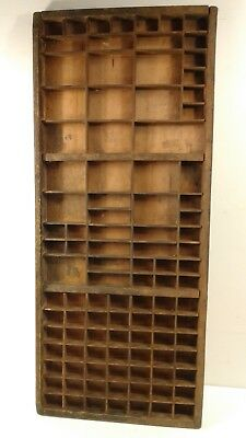 Vintage/Retro wooden Printers letterpress tray/drawer shadowbox CAN POST #8a