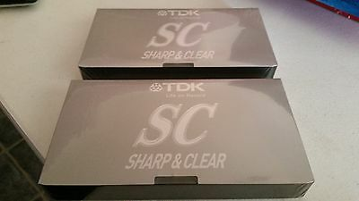 TDK SC180  VHS Sealed Tape x 2 - Free Postage