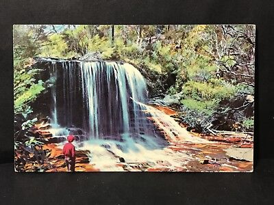 Vintage Postcard WEEPING ROCK, WENTWORTH FALLS, NSW A Hurley Camera Study