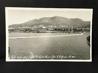 Vintage Postcard of HOBART BRIDGE From Eastern Shore, ASH BESTER'S REAL PHOTO