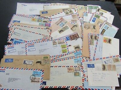 Singapore/hong Kong/malaysia - Collection Of Multiple Franked Airmail Covers