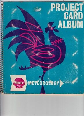 1960's Shell Petrol(Meteorology) Trading Cards In Book (Full Set Of Cards)
