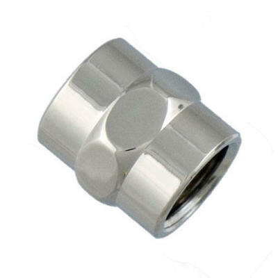 "Signature Hardware 1/2"" IPS Solid Brass Decorative Pipe Coupling"