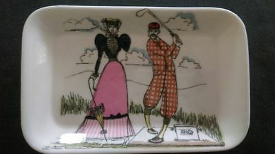 vintage Fun and Games (golf) Foley by Maureen Tanner tray