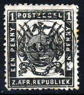 TRANSVAAL SOUTH AFRICA 1883 1d. Grey-Black Perf 12 Re-Issue SG 171 VFU