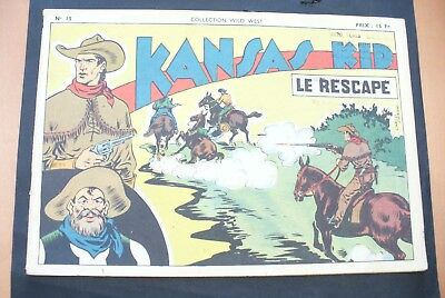 Bd - Kansas Kid Format 27 X 18,5 Cm -1948 - N°15 - Tbe  ! Collection Wild-West