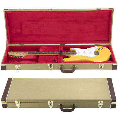 Gold Electric Guitar Case Protective Flight Guitar Hard Case Lockable Carry Bag