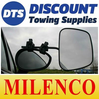 Milenco Grand Aero Caravan Car Towing Flat Glass Mirrors With Carry Bag 2073