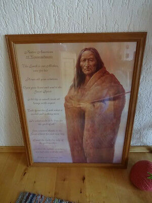 native americans 10 commandments art poster gerahmt 78x62 cm eur 5 00 picclick de. Black Bedroom Furniture Sets. Home Design Ideas