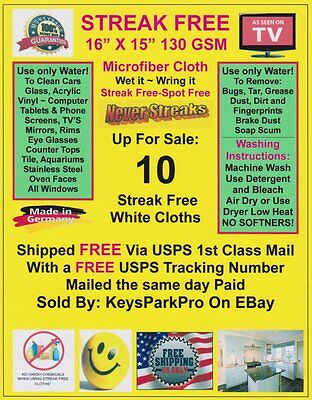 10 Streak Free MicroFiber Cleaning Cloths FREE! 1st Class Mail Made in Germany!