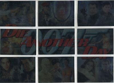 James Bond Die Another Day Complete Montage Chase Card Set #1-9