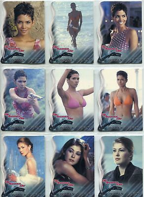 James Bond Die Another Day Complete Women Of Bond Chase Card Set W1-9