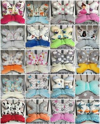 Baby Bedding Cot Cotbed Pillow Butterfly Cotton Soft Plush Cuddle