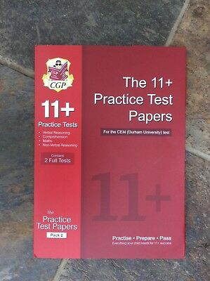 cgp 11practice test papers pack 2 brand new unopened