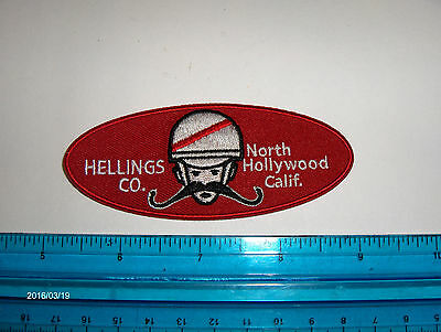 """Harley,Indian,Customs, Vintage Style """"Hellings Company"""" Motorcycle Jacket Patch"""