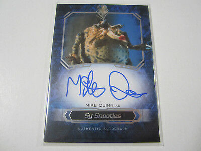 2016 Topps Star Wars Masterwork Mike Quinn as Sy Snootles Autographed Card