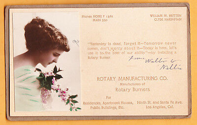 c1940s Rotary Manufacturing Co, Los Angeles CA, ad blotter used