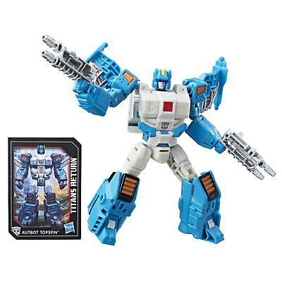 Transformers Generations Titans Return Deluxe Class AUTOBOT TOPSPIN & FREEZEOUT
