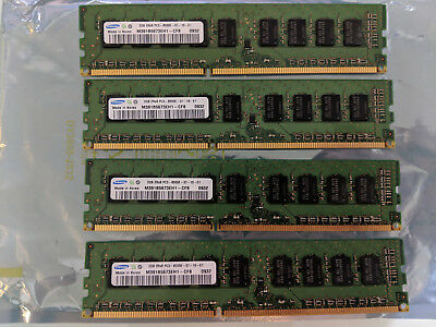 Samsung M391B5673EH1 4x 2GB (8GB total) 2Rx8 PC3-8500E DDR3 server RAM