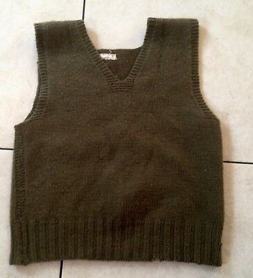 American Red Cross WW2 Wool Knit Sweater Vest Small Charter Tag Very Good Cond !