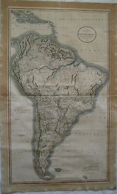 A NEW MAP of SOUTH AMERICA FROM THE LATEST AUTHORITIES BY JOHN CARY 1807