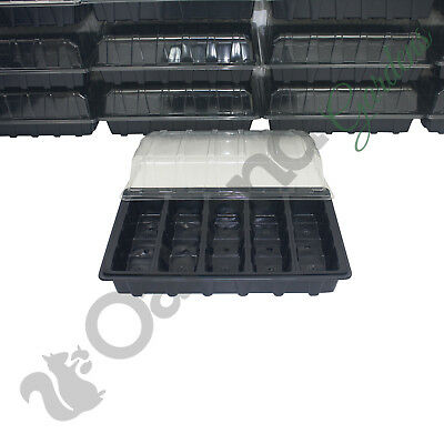 3 X Full Size Propagator Set, Lids Seed Trays + 5 Cell Inserts With or No Holes