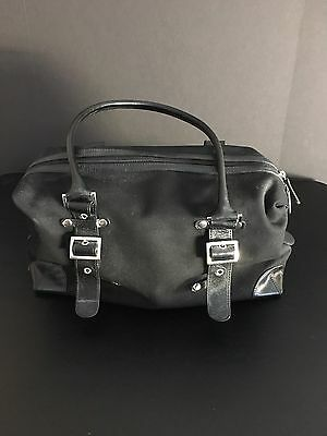 Banana Republic Black Canvas and Leather Tote / Purse