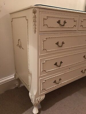 Louis XV French Vintage Olympia Chest Of Drawers Shabby Chic