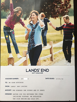 Land's End Clothing Gift Voucher Value £202
