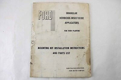 Ford Granular Herbicide Applicator Planters Owner Parts Manual Tractor