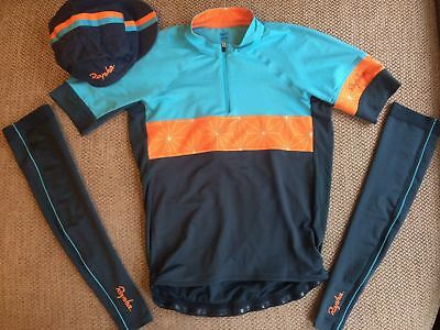 RAPHA Race to the Sun hat + sleeves sz L