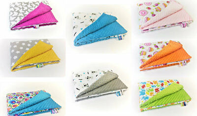 BABY BEDDING BLANKET OR DUVET (75X100cm) COT BED   COTTON & SOFT PLUSH CUDDLE