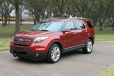 2014 Ford Explorer Limited 4WD One Owner Perfect Carfax Heated and Cooled Seats Dual Sunroofs Nav 20's $47800
