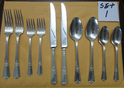 Vintage Rogers & Son Guild Cadence 2 Place Settings Fork Spoon Knife Silverplate