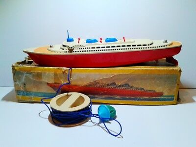 Michael Seidel MS Pacific 706/P tin plate ship battery powered 1955 with box
