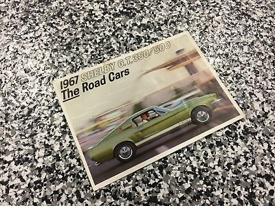 RARE 1967 Shelby American GT350 GT500 Showroom Brochure 427 428P DRIVER VERSION!
