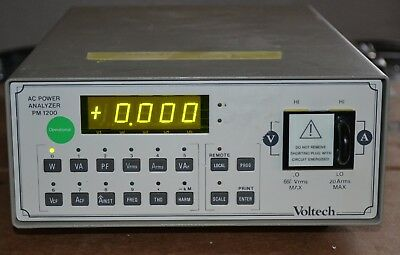 Voltech PM1200 AC Power Analyzer DC and 5hz-50khz, Great Shape and Guaranteed